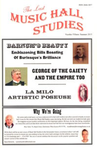 Latest Music Hall Studies Issue